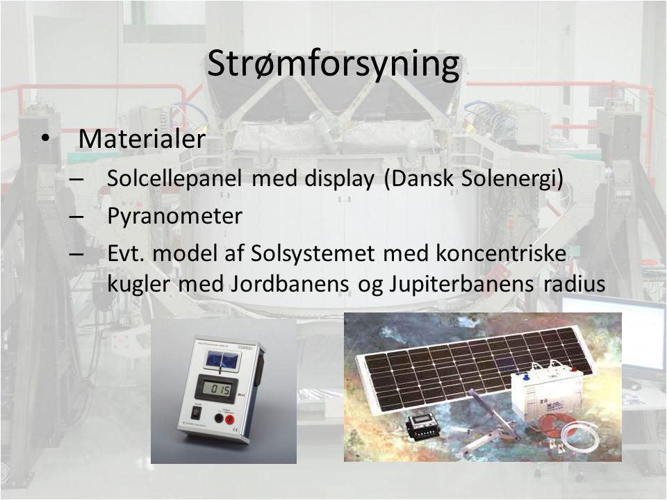 Strømforsyning Materialer Solcellepanel med display (Dansk Solenergi)