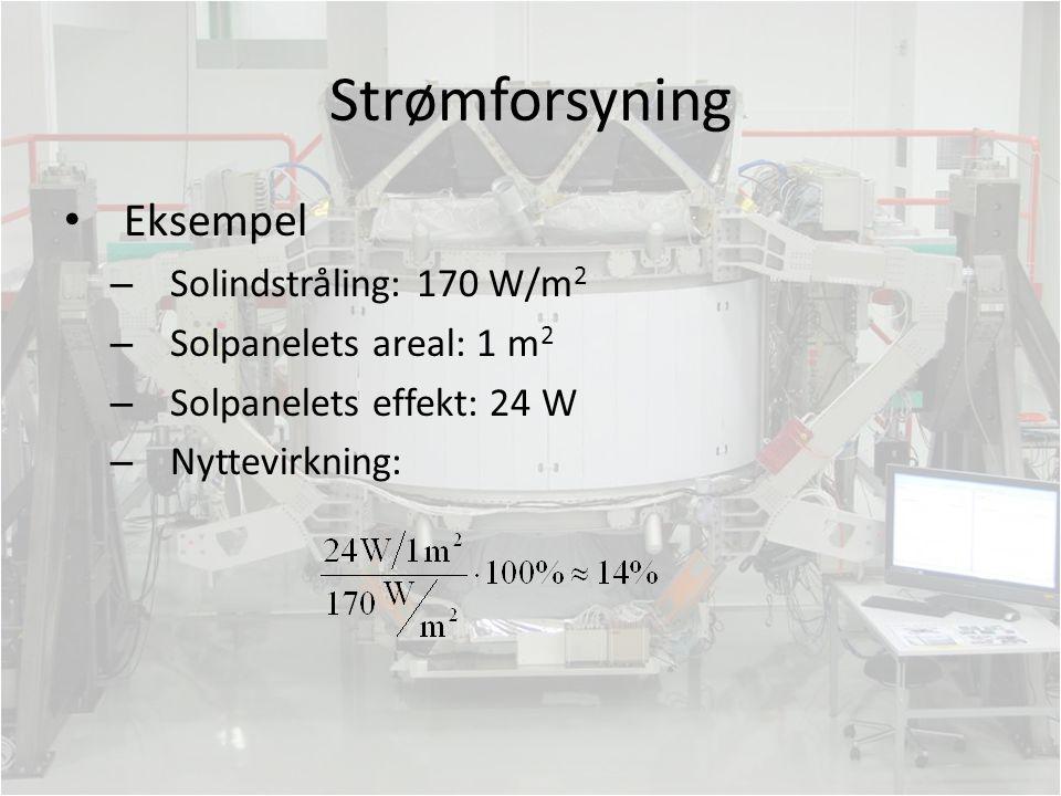Strømforsyning Eksempel Solindstråling: 170 W/m2