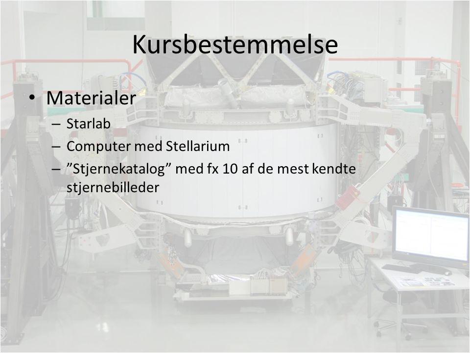 Kursbestemmelse Materialer Starlab Computer med Stellarium