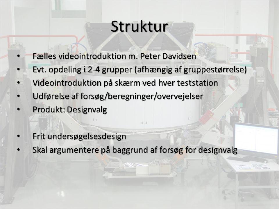 Struktur Fælles videointroduktion m. Peter Davidsen