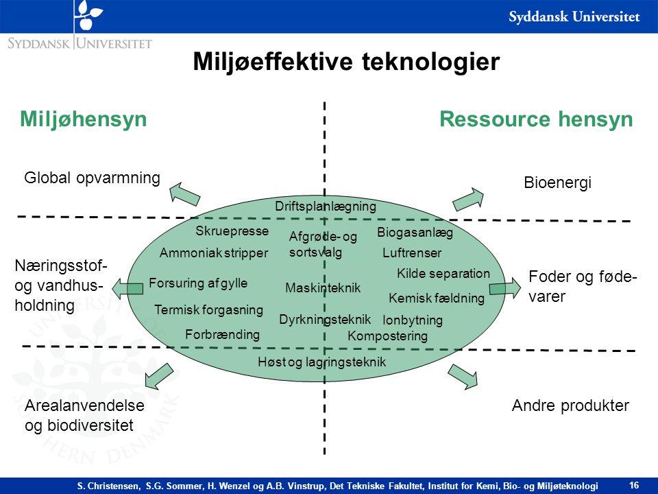 Miljøeffektive teknologier