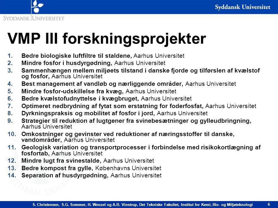 VMP III forskningsprojekter
