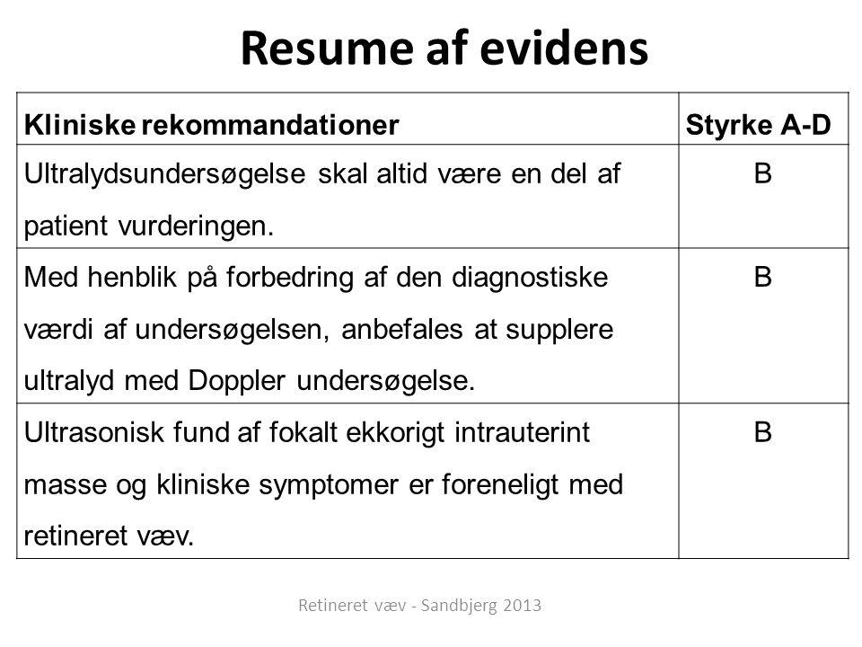 Retineret væv - Sandbjerg 2013