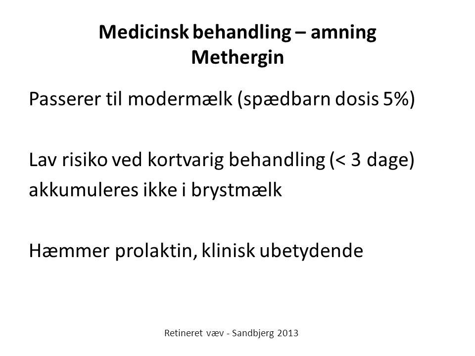 Medicinsk behandling – amning Methergin