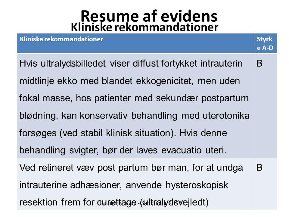 Kliniske rekommandationer
