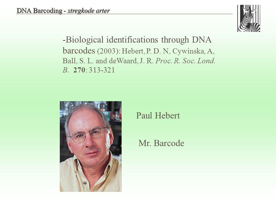 DNA Barcoding - stregkode arter