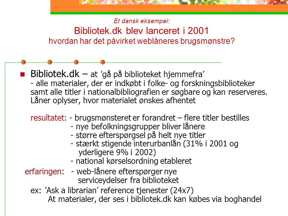 Et dansk eksempel: Bibliotek