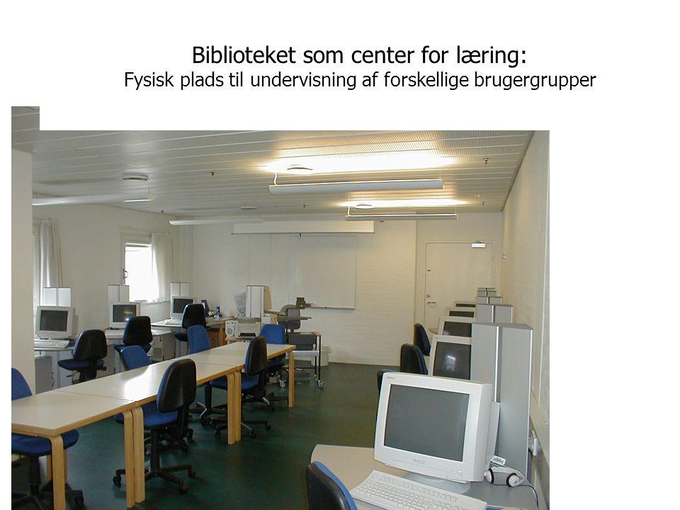 Biblioteket som center for læring: Fysisk plads til undervisning af forskellige brugergrupper
