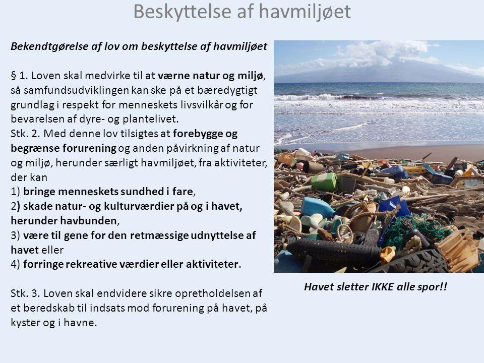 Beskyttelse af havmiljøet