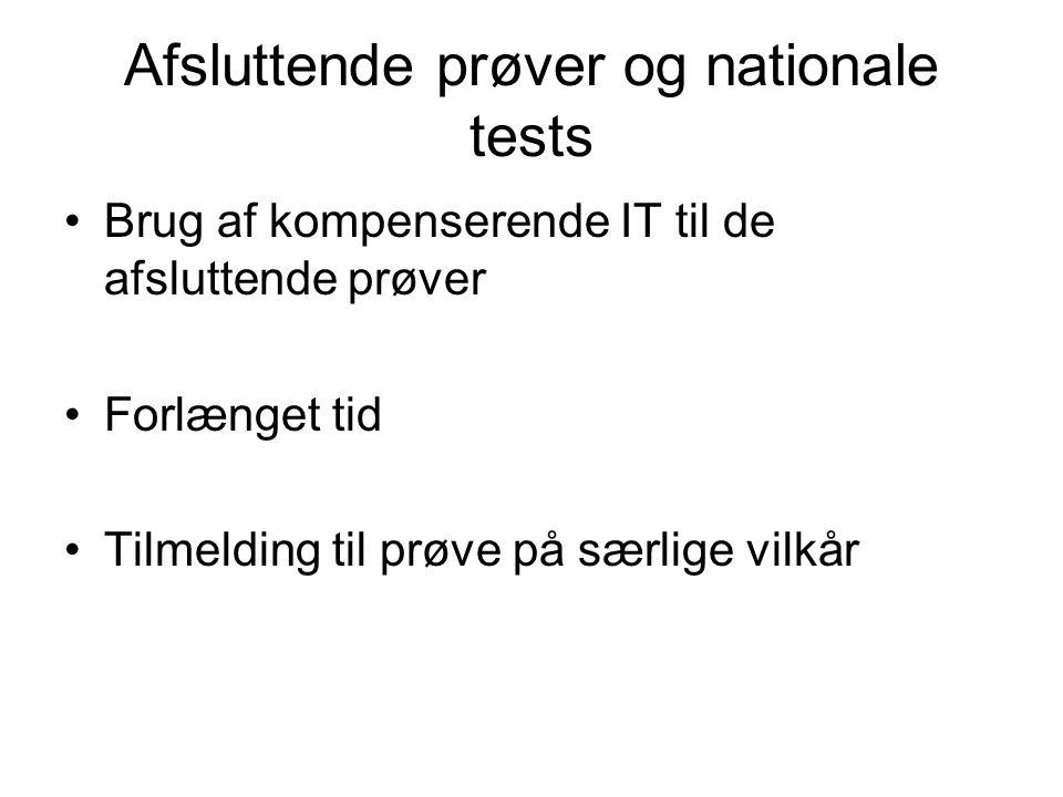 Afsluttende prøver og nationale tests