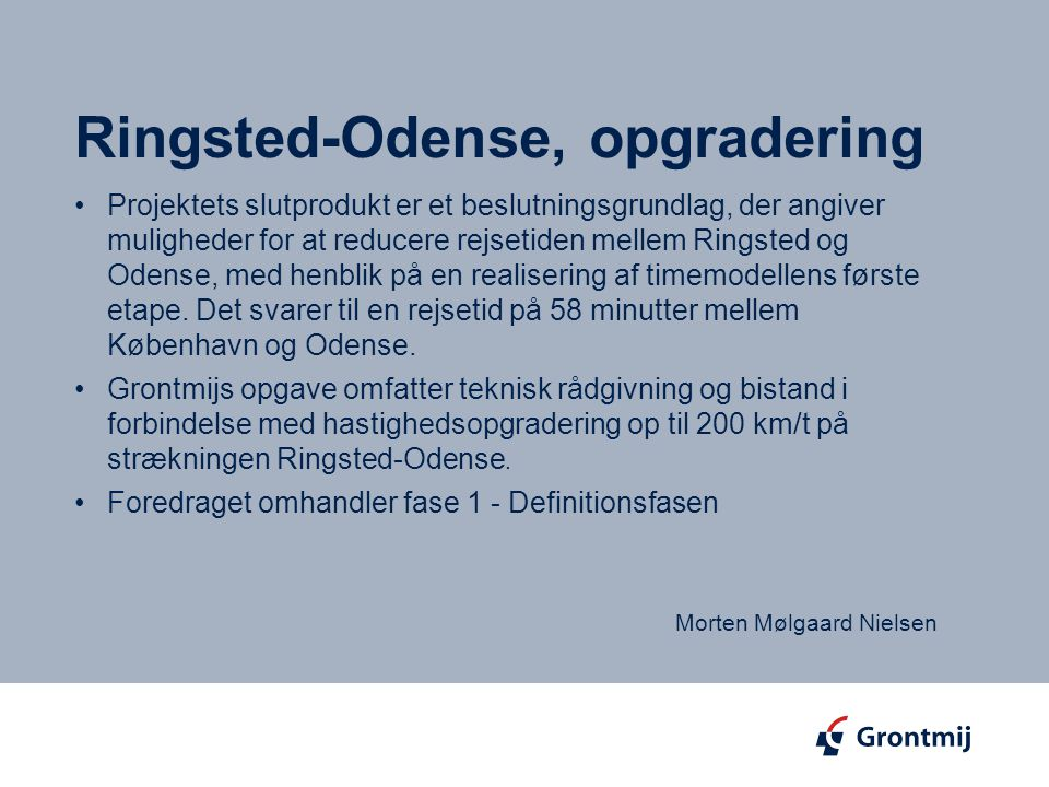 Ringsted-Odense, opgradering