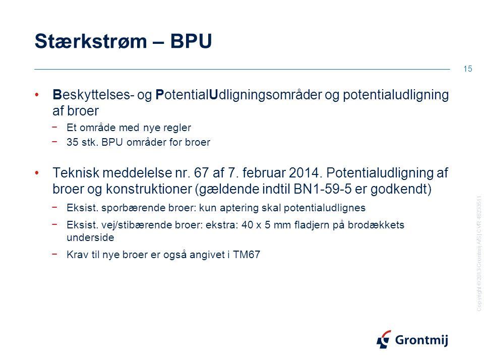 Stærkstrøm – BPU Beskyttelses- og PotentialUdligningsområder og potentialudligning af broer. Et område med nye regler.