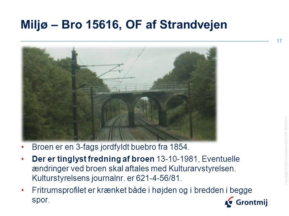 Miljø – Bro 15616, OF af Strandvejen