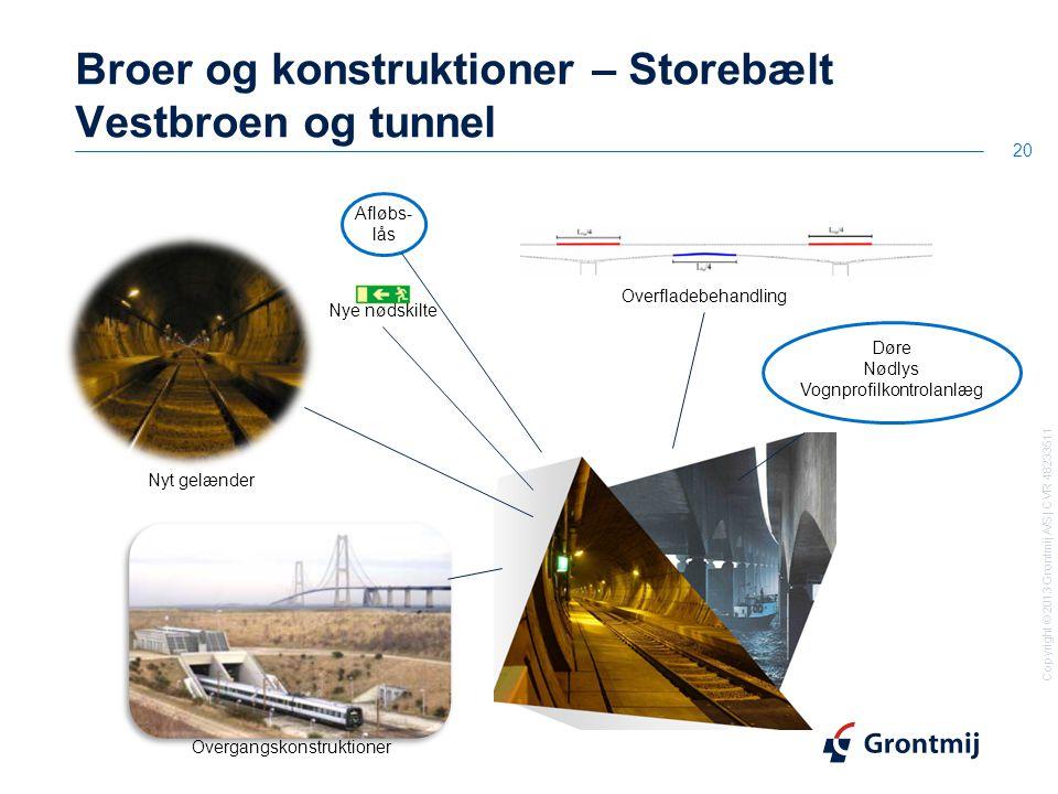 Broer og konstruktioner – Storebælt Vestbroen og tunnel