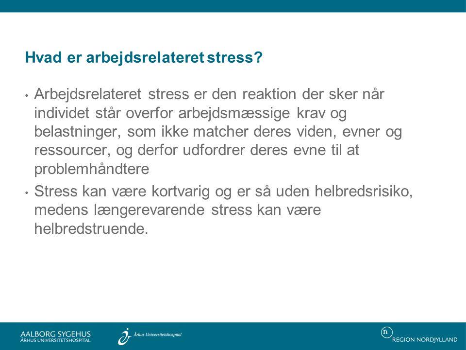 Hvad er arbejdsrelateret stress