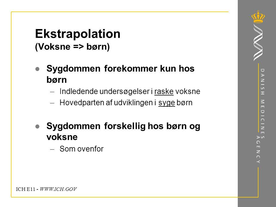 Ekstrapolation (Voksne => børn)
