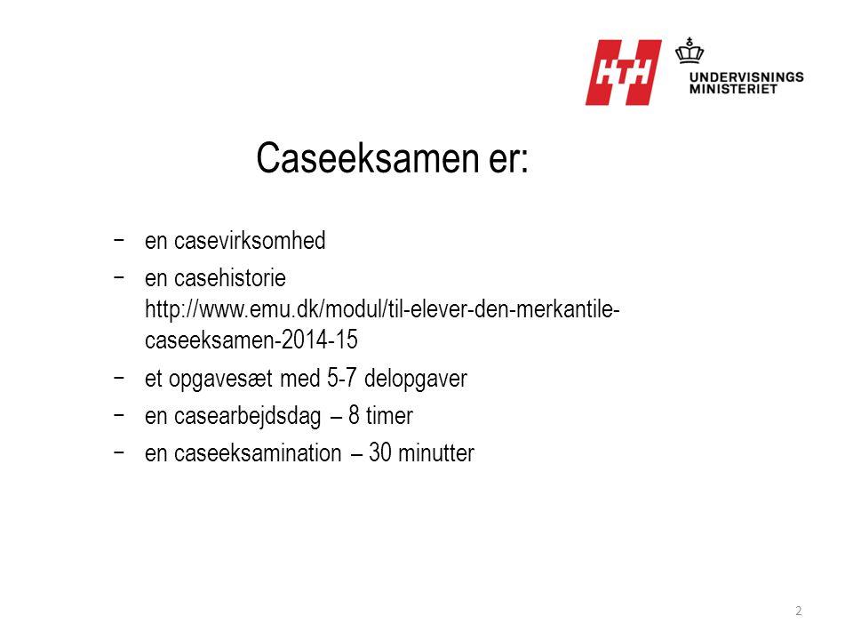 Caseeksamen er: en casevirksomhed
