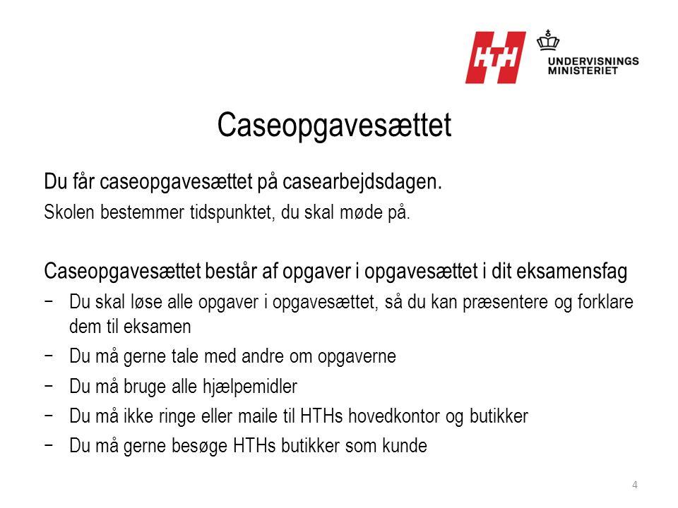 Caseopgavesættet Du får caseopgavesættet på casearbejdsdagen.