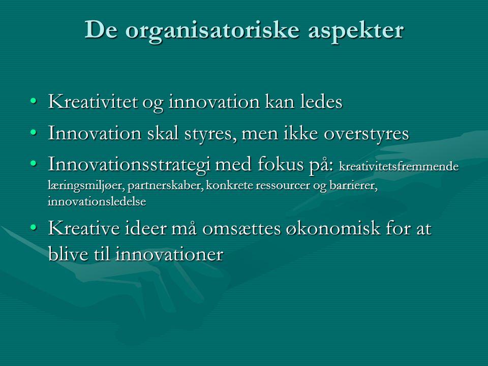 De organisatoriske aspekter