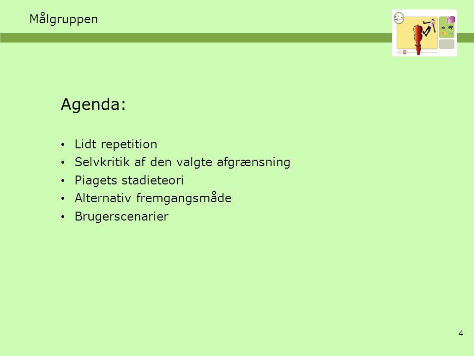 Agenda: Målgruppen Lidt repetition