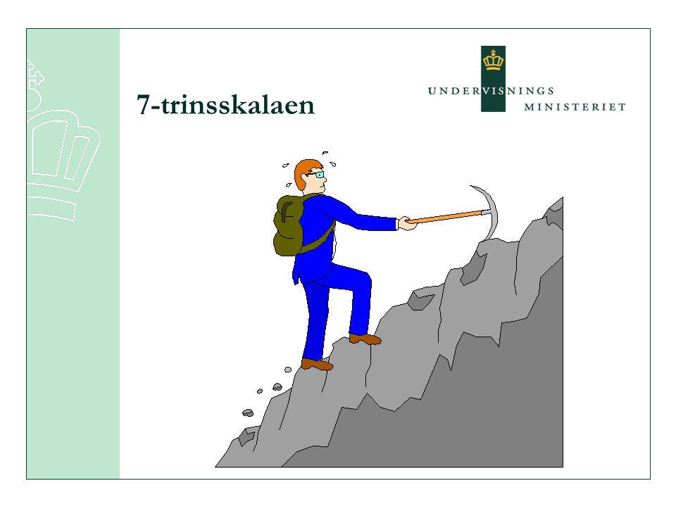 7-trinsskalaen Status.