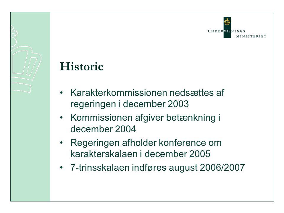Historie Karakterkommissionen nedsættes af regeringen i december 2003