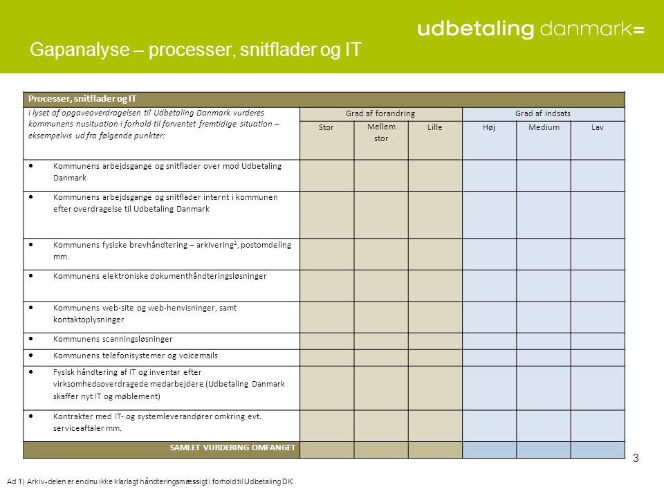 Gapanalyse – processer, snitflader og IT
