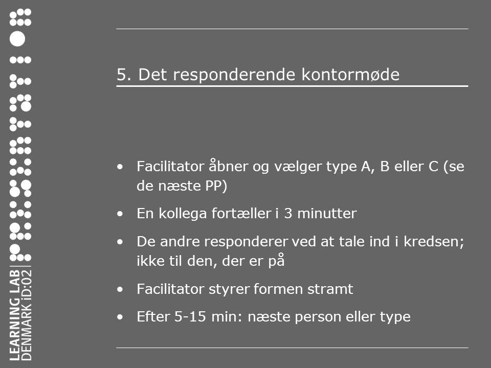 5. Det responderende kontormøde
