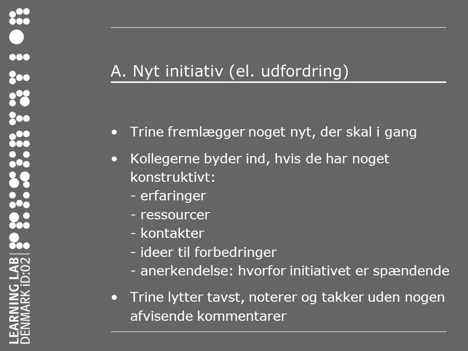A. Nyt initiativ (el. udfordring)