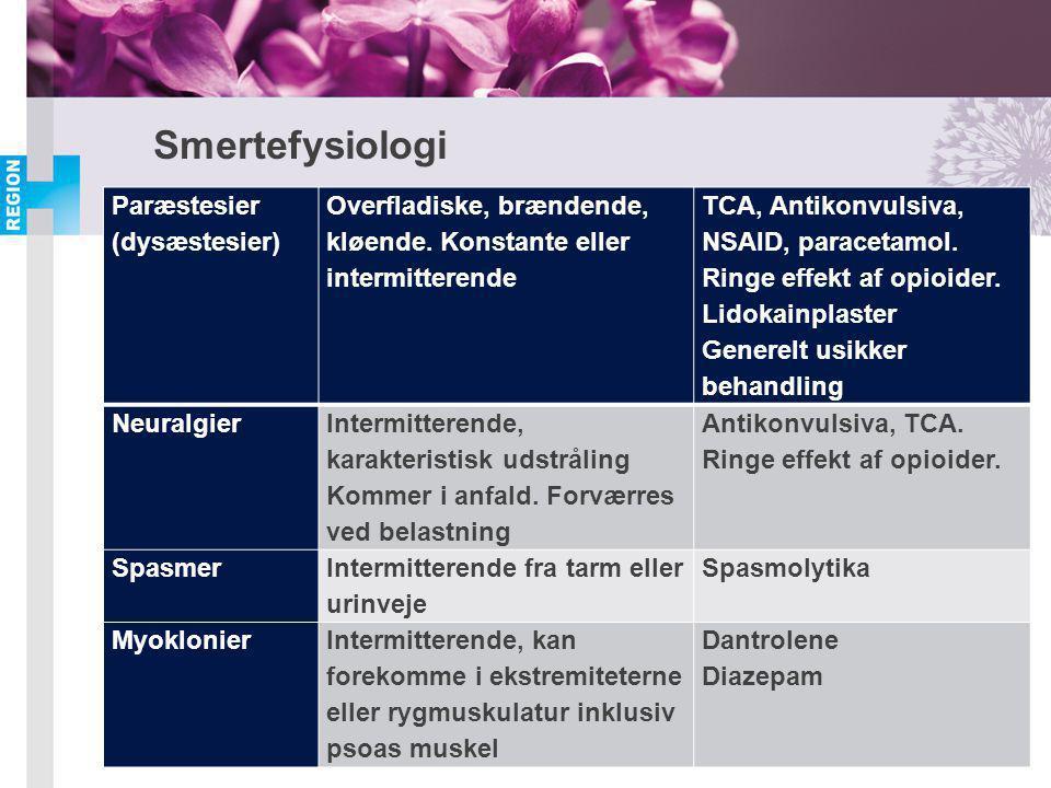 Smertefysiologi Paræstesier (dysæstesier)