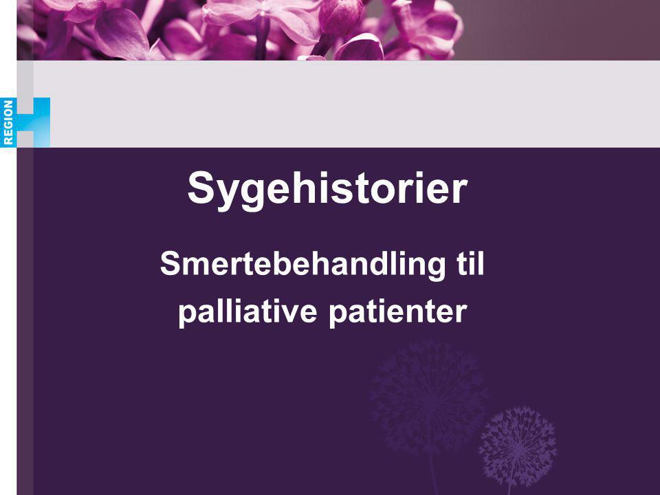 Smertebehandling til palliative patienter