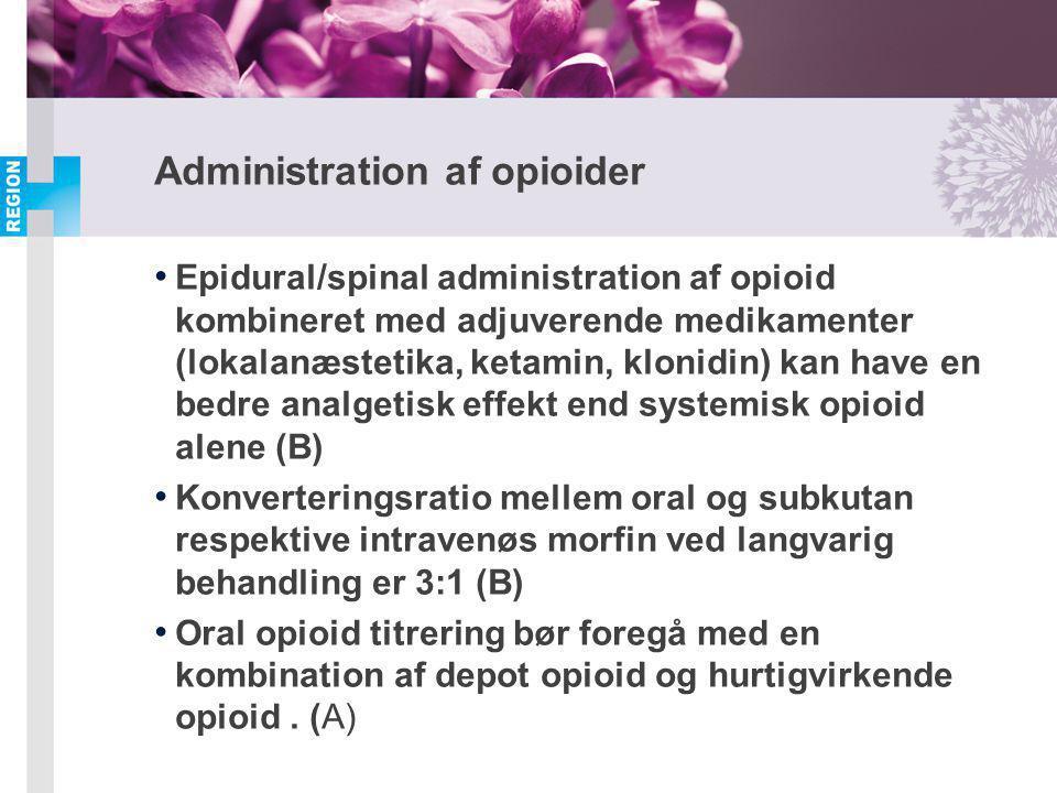 Administration af opioider