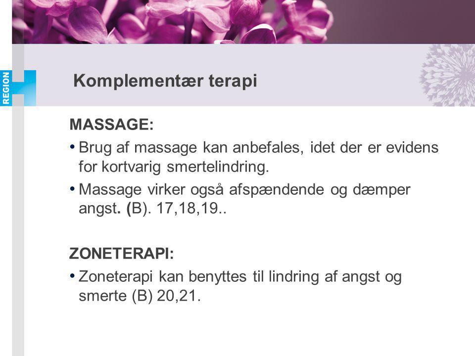 Komplementær terapi MASSAGE:
