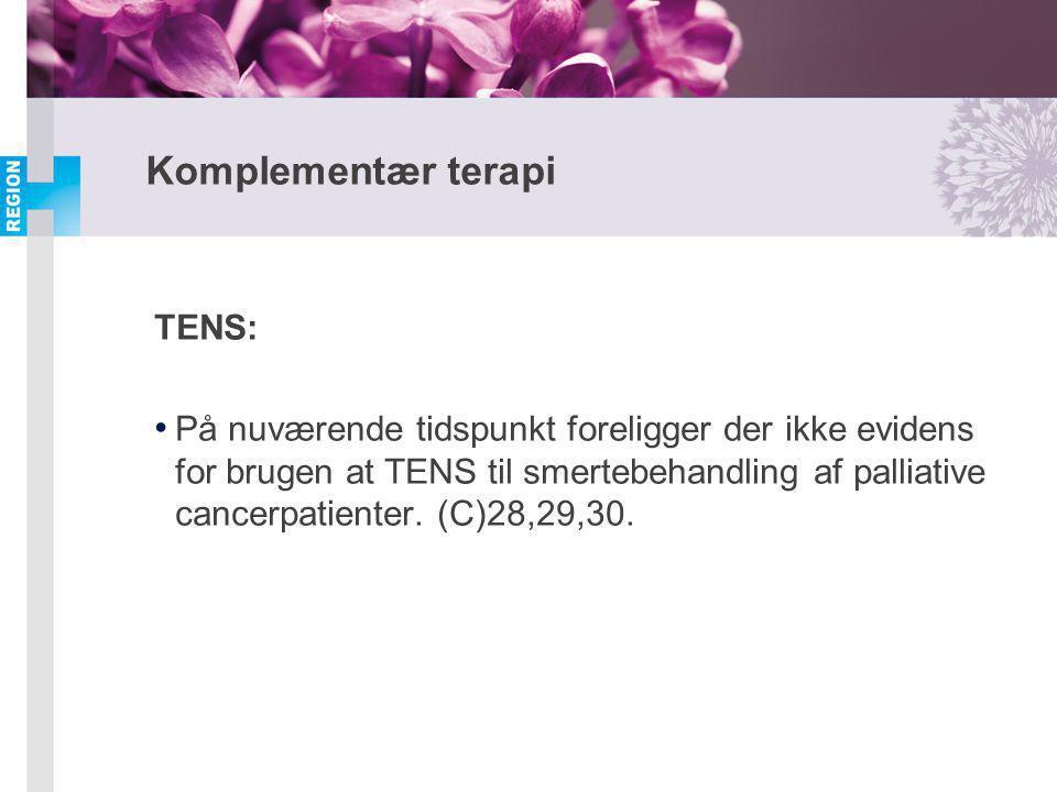 Komplementær terapi TENS:
