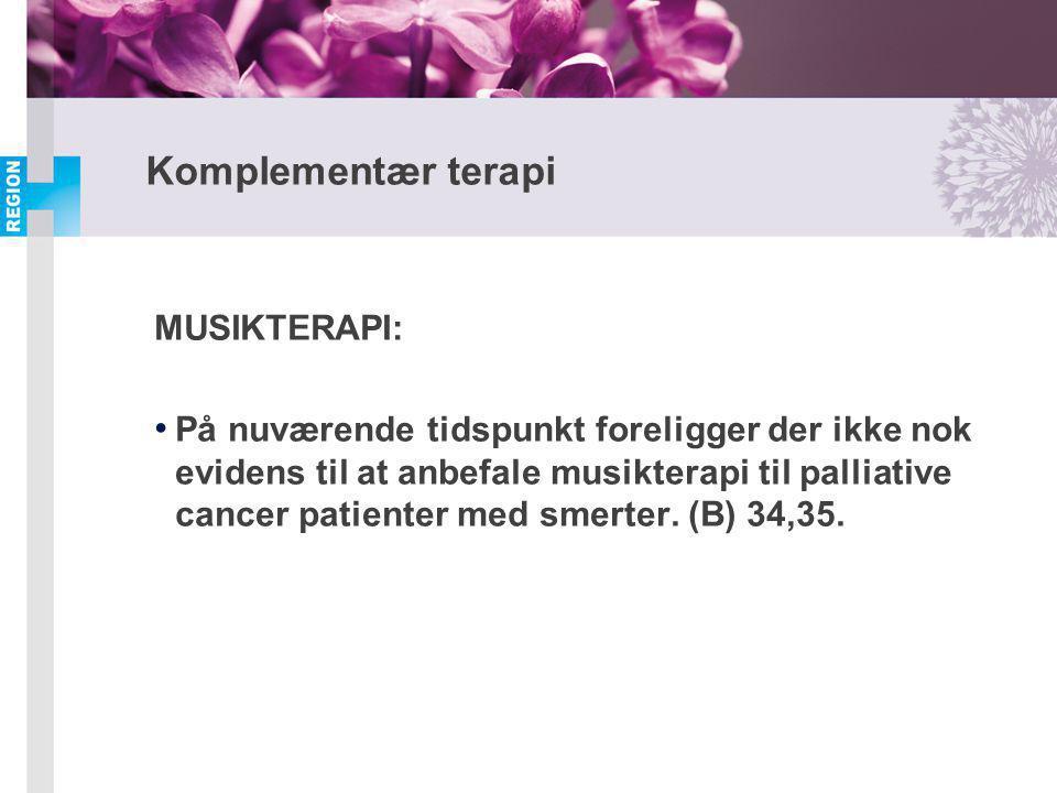 Komplementær terapi MUSIKTERAPI: