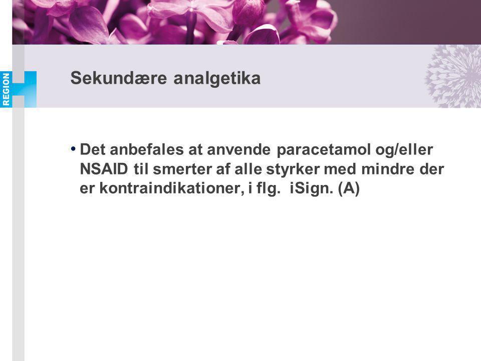 Sekundære analgetika