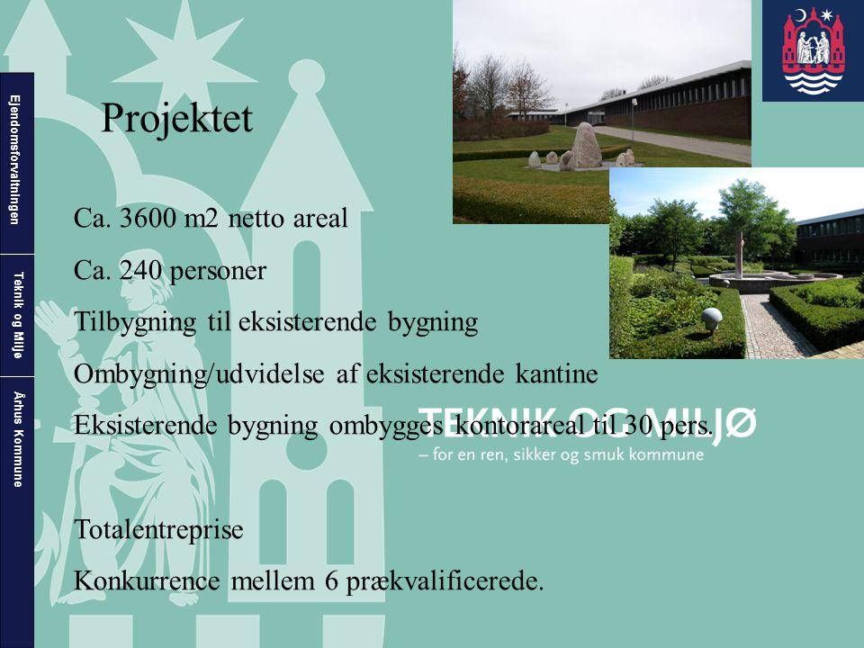 Projektet Ca. 3600 m2 netto areal Ca. 240 personer