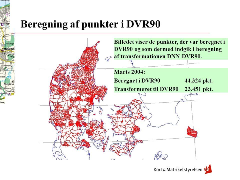 Beregning af punkter i DVR90