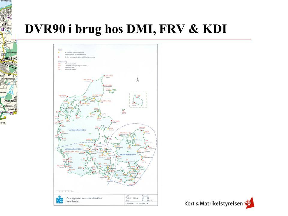DVR90 i brug hos DMI, FRV & KDI