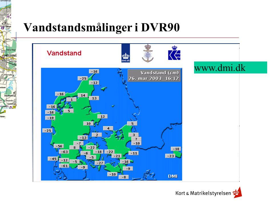 Vandstandsmålinger i DVR90