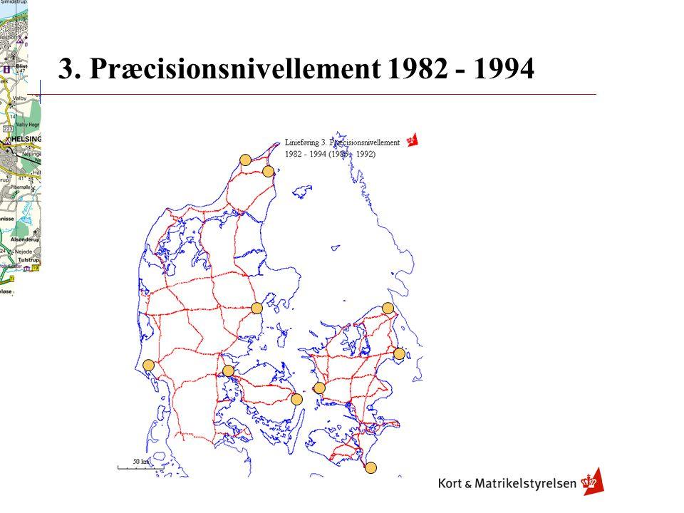 3. Præcisionsnivellement 1982 - 1994