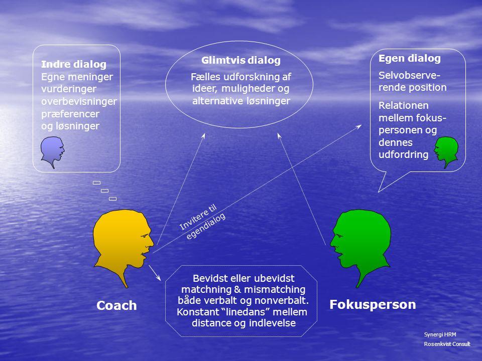 Coach Fokusperson Egen dialog Glimtvis dialog