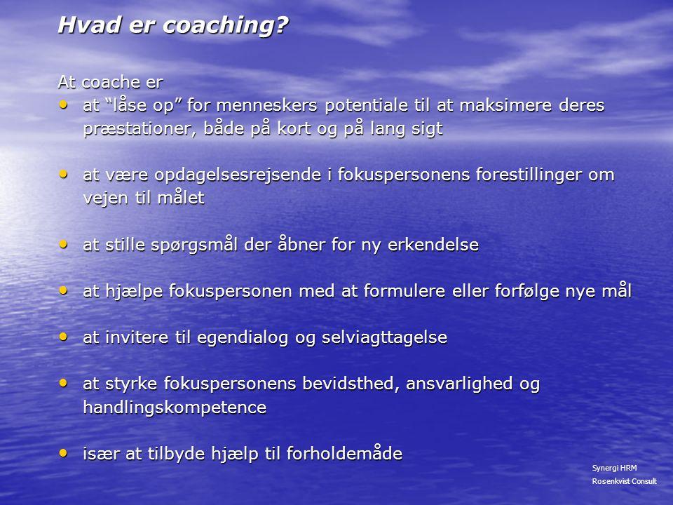 Hvad er coaching At coache er