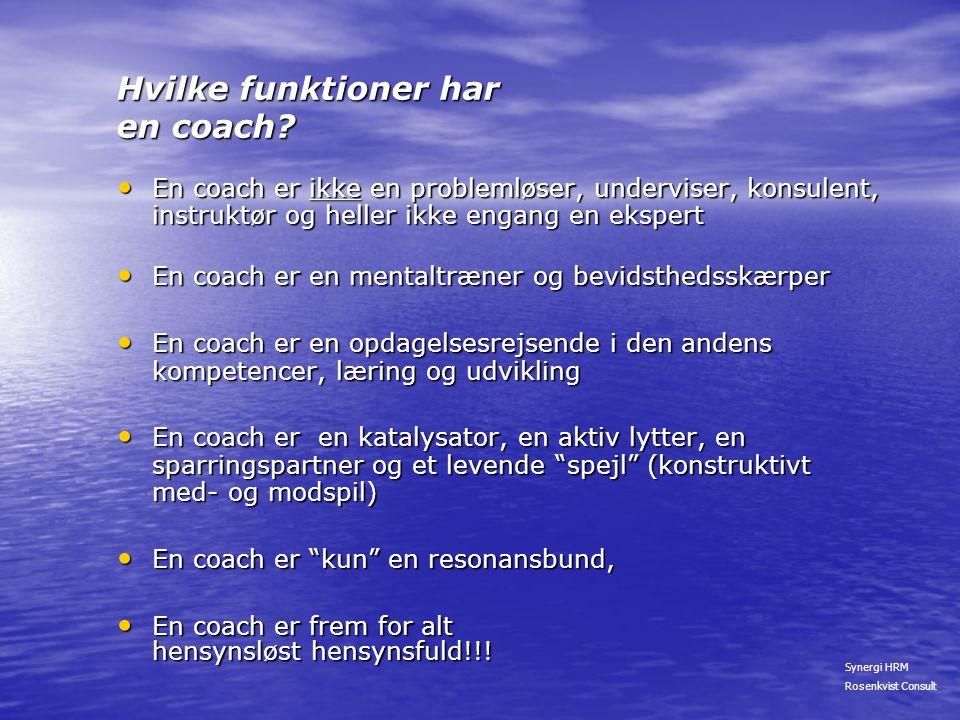 Hvilke funktioner har en coach