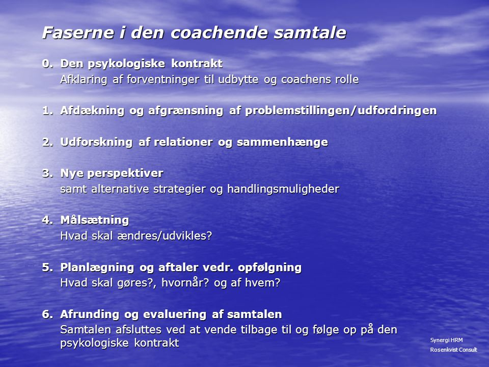 Faserne i den coachende samtale