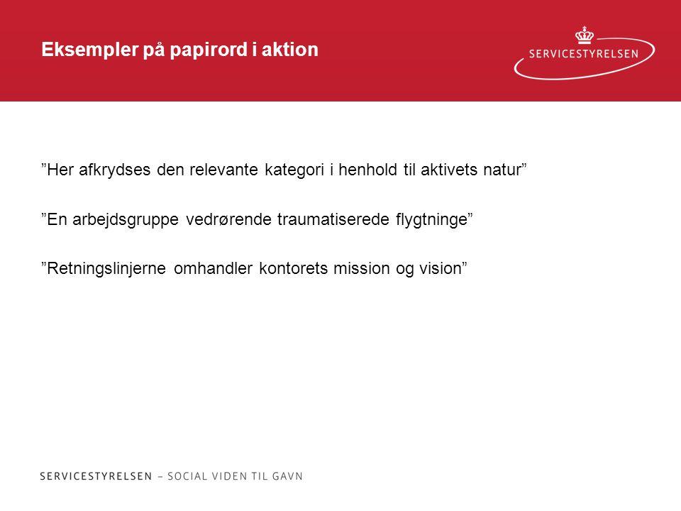 Eksempler på papirord i aktion