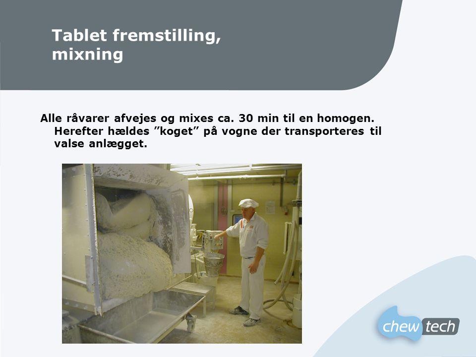 Tablet fremstilling, mixning