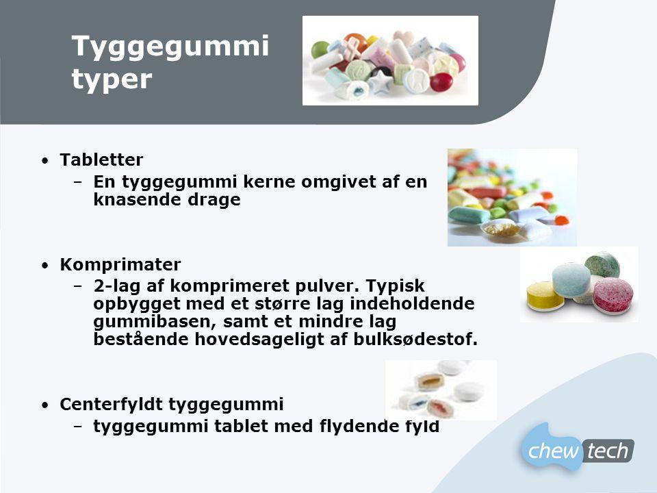 Tyggegummi typer Tabletter