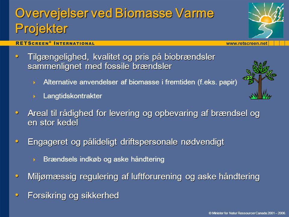 Overvejelser ved Biomasse Varme Projekter