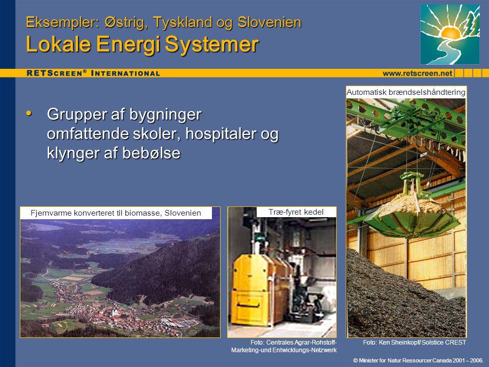 Eksempler: Østrig, Tyskland og Slovenien Lokale Energi Systemer